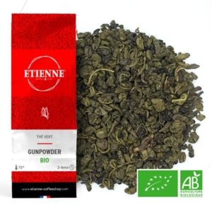 GUNPOWDER BIO 100g Thé vert naturel de Chine