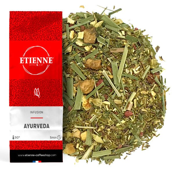 AYURVEDA 100g Infusion Réglisse, gingembre, feuilles de framboise...
