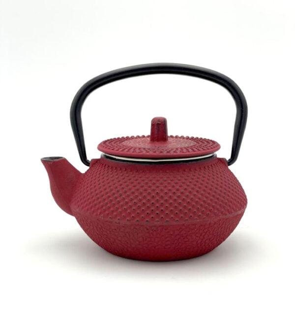 Théière MINI en fonte de Chine - Couleur rouge, contenance 30cl
