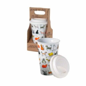 Mug en porcelaine - EASY TO GO double paroi - 27cl