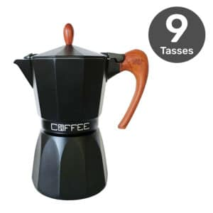 Cafetière italienne GAT Fashion Wood Black 9 tasse