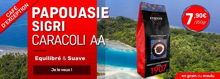 café 100% arabica Papouasie Nouvelle guiné Sigri Caracoli AA