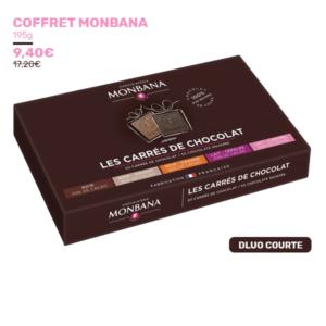 Coffret de chocolat Monbana 50 carrés
