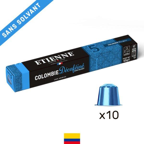 Capsule de café décaféiné Colombie ETIENNE Coffee & Shop