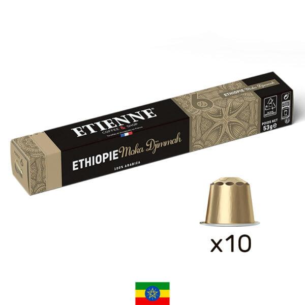 Capsule de café Ethiopie Moka Djimmah ETIENNE Coffee & Shop