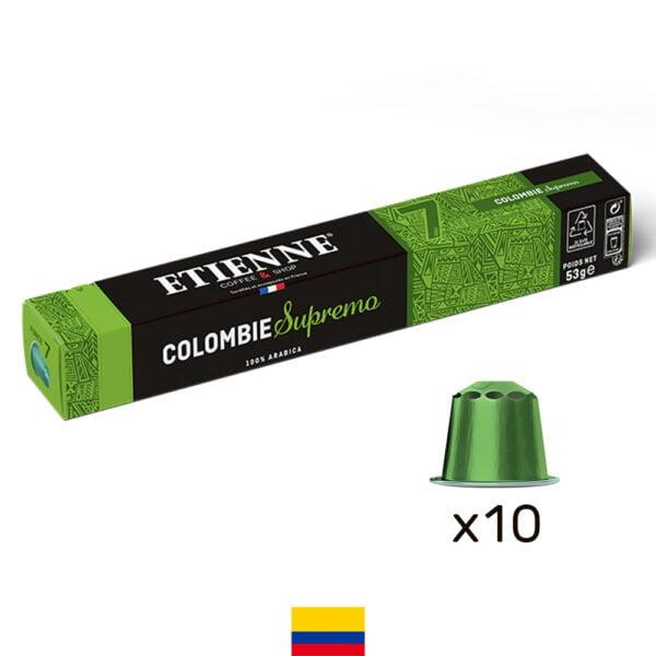 Capsule de café Colombie Supremo ETIENNE Coffee & Shop