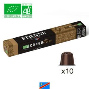 Capsule de café Congo Bio Kivu ETIENNE Coffee & Shop